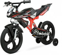 """Hyper Bicycles 16"""" Speedbike Kids Bike BMX Style with Traini"""