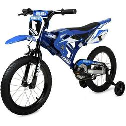 """Bicycles For Kids With Training Wheels Boys Bike 16"""" Motorcy"""