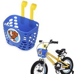 Mini-Factory Kid's Bike Basket, Cute Puppy Pattern Bicycle H