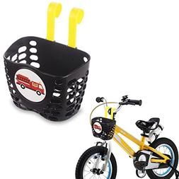 Mini-Factory Kid's Bike Basket, Cute Fire Truck Pattern Bicy