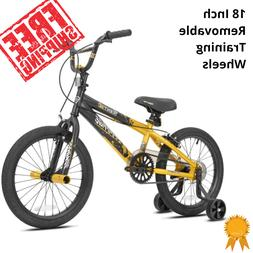 Bike for Boys 18 Inch BMX Bicycle with Training Wheels Kids