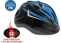 Cloubike Kids Bike Bicycle Helmet with LED Safety Light and