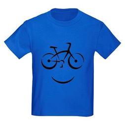 CafePress Bike Smile Kids Dark T Shirt Kids Cotton T-shirt