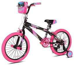 "Kent 18"" Sparkles Girls Bike, Black/Pink Summer Toy Kids Out"