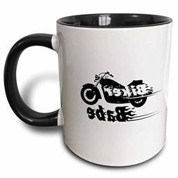 3dRose Biker Babe - motorbike girl woman motorcycle culture.
