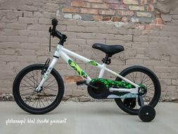 "Ryda Bikes Adventurer - 16"" White Toddler Kids Bike with Tra"