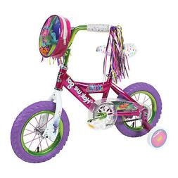 "12"" Bikes For Girls Dynacraft Trolls Bicycle Pink Adjustable"