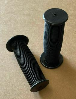 "BMX BLACK MUSHROOM GRIPS FOR KIDS BICYCLES FITS 12"",14"",16"""
