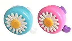 Aimyoo Set of 2 Blue & Pink Kids Toddlers Bicycle Bells - Da