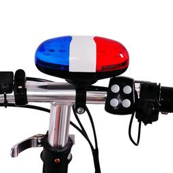 Blue Red 6 LED 4 Tone Horn for Bicycle <font><b>Bike</b></fo