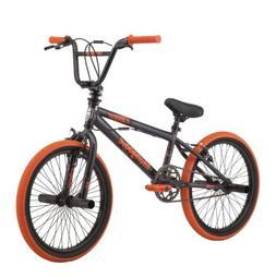 Mongoose Boy's BMX Bike 20 Inch Wheels Gray Orange Old Schoo