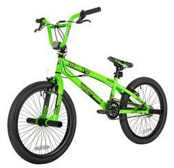 BMX BIKE Kids Boys Bicycle 20-Inch Wheels Neon Green Steel F