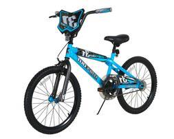 "BMX BIKE Kids Boys Bicycle 20"" Wheels Black Blue Steel Frame"