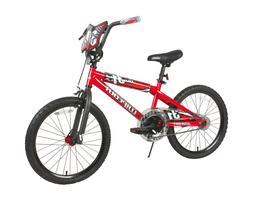 "BMX BIKE Kids Boys Bicycle 20"" Wheels Black Red Steel Frame"