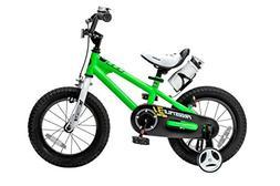 Royalbaby BMX Freestyle Kid's Bike, 12 inch wheels, Green