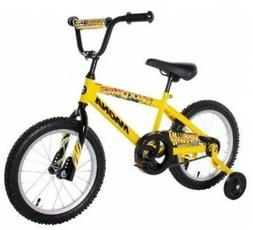 BOYS 16 inch YELLOW BMX BICYCLE Training Wheels Coaster Brak