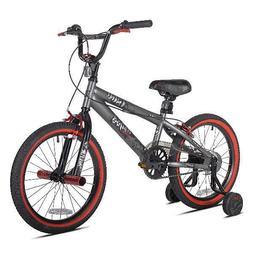"Kids 18"" Abyss BMX Style Boys Bike, Gray Outdoor Fun Sports"