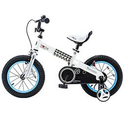 RoyalBaby Boys Girls Kids Bike 12 Inch Buttons Bicycles with