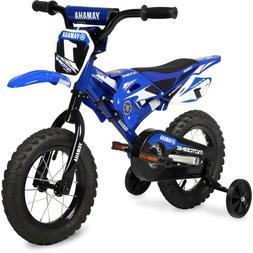 "Boys Kids 12"" Bike Yamaha Moto Summer BMX Training wheels Ch"