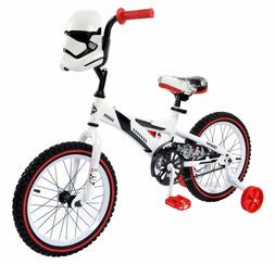 "Boys Kids 16"" Huffy Storm Troopers White Bike Training Wheel"
