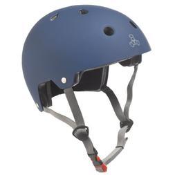 Triple Eight Brainsaver Rubber Helmet  Brain Svr Skate//bike Sm-md Wht-rbr