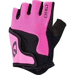 Giro Bravo Jr Gloves Bright Pink Performance Headband Bundle