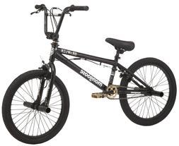 "Mongoose BRAWLER Freestyle 20"" Kids BMX Bike Black with Pegs"