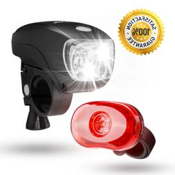 SAMLITE - Best Brightest LED Bike Light Set for Kids & Adult