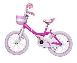 Royalbaby Bunny Girl's Bike Fushcia 16 inch Kid's bicycle