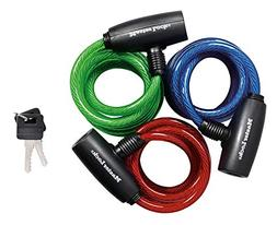Master Lock Bike Lock/Cable Ka Asst Colors Red Blue Green Pa