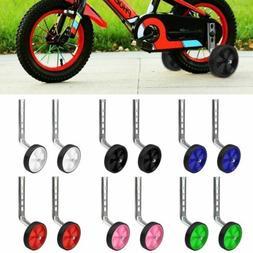 Children Bicycle Training Wheels Rear Stabilizers Mounted Ki