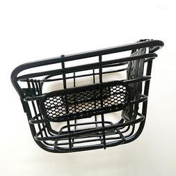 Children Cuboid Steel Wire Front Black Basket Bike Accessori