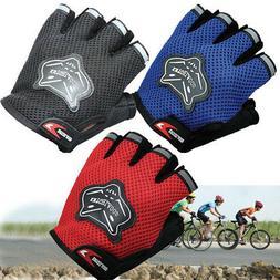 Children Kids Bike Gloves Half Finger Breathable Anti-slip F