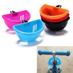 children's bike basket plastic bicycle bag kids scooter hand