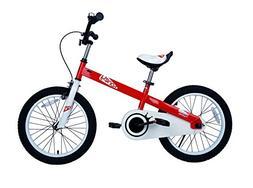 "RoyalBaby CubeTube Honey 18""  Bicycle for Kids, Red"