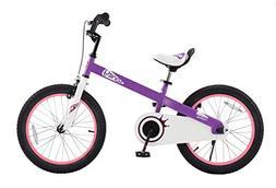 "RoyalBaby CubeTube Honey 18""  Bicycle for Kids, Lilac"