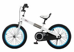 """RoyalBaby CubeTube Buttons 18"""" Bicycle for Kids Blue"""