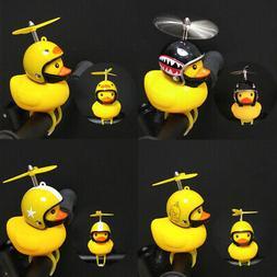 Cute Helmet Propeller Duck Kids Bike Bicycle Handlebar Bell