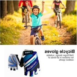 Cycling Bike Gloves Kids Boy Girl Pad Youth Junior Road Moun