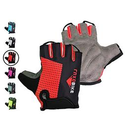 LuxoBike Cycling Gloves Bicycle Gloves Bicycling Gloves Red