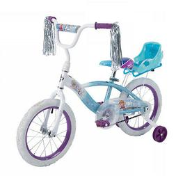 "Huffy Disney Frozen 16"" EZ Build Girls Bike with Sleigh Doll"