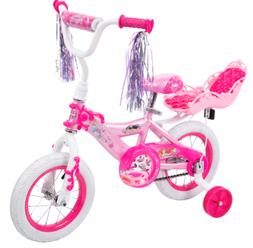 "Disney Princess Girls' 12"" Bike with Doll Carrier by Huffy"