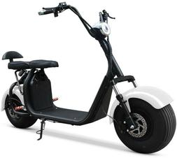 DOUBLE SEAT  2000W 60V  Wide Fat Tire  Kick Electric Scooter