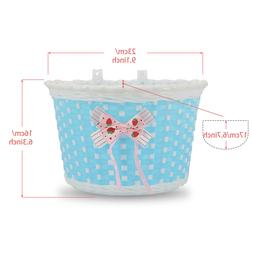 DRBIKE Kids Bike Replacement Basket with Flower for 12 14 16