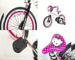 "Hello Kitty Dynacraft Girls BMX Street Bike 18"", White/Black"