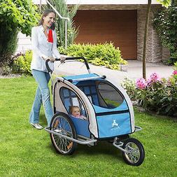 Elite Double Baby Bike Trailer Stroller - Child Bicycle Kids