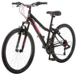 "Mongoose Excursion Mountain Bike, Girls, Female, 24"", Black/"