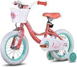"""JOYSTAR Fairy 12"""" 14"""" Inch Kids Bike with Basket & Training"""