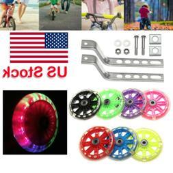 Flashing Kid Adjustable Training Side Wheels for Children 12