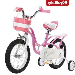 RoyalBaby Girl's Bike Little Swan 14 16 In Kids Bike with Tr
